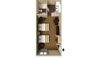 Furnished Studio - Montgomery - Eastern Blvd., 2