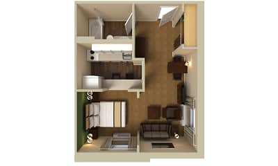 Furnished Studio - St. Louis - Westport - Craig Road, 2