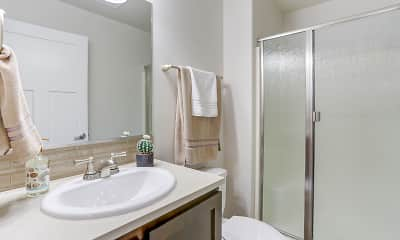 Bathroom, Dawson Village Apartments, 2