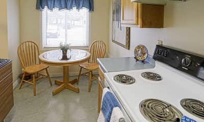 Kitchen, Crimson Heights Apartments, 1