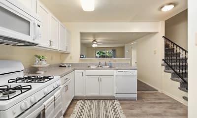Kitchen, Oak Hill Townhomes, 1