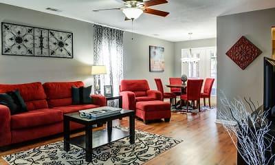 Living Room, Hawthorne Apartments, 1