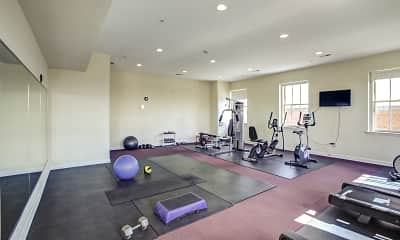 Fitness Weight Room, City View Lofts, 2