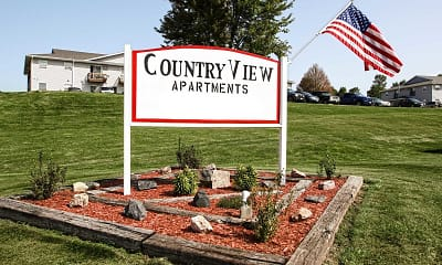Community Signage, Country View Apartments, 2
