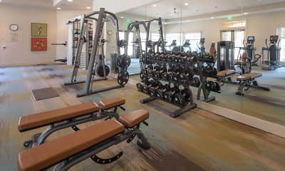 Fitness Weight Room, Del Rio Apartment Homes, 2