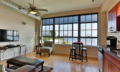 Living Room, Riverview Lofts, 0