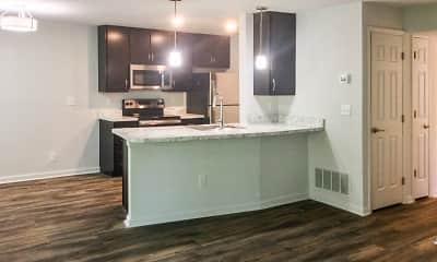 Kitchen, Knolls Apartments, 0
