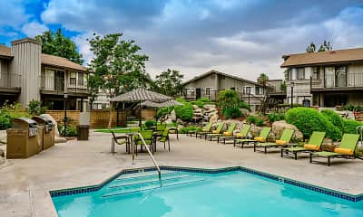 Pool, Boulder Creek Apartments, 1
