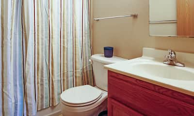 Bathroom, Ames Lake Neighborhood Apartments, 2