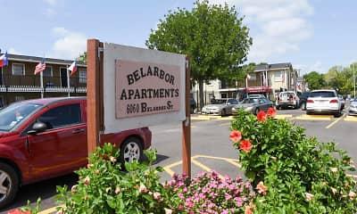Community Signage, Belarbor Apartments, 1
