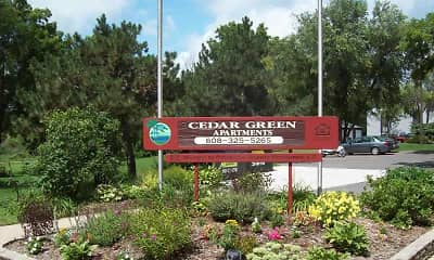 Landscaping, Cedar Green Apartments, 0