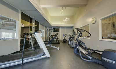 Fitness Weight Room, Camelot Place Apartments, 2