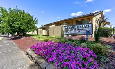 Community Signage, Maple Terrace Apartments, 1