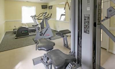 Fitness Weight Room, Ocean Pebbles, 2