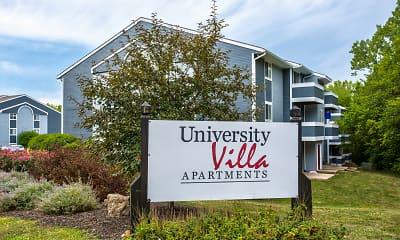 Community Signage, University Villa Apartments, 2