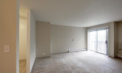 Living Room, Rosewood Apartments, 1