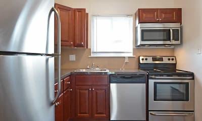 Kitchen, Chateau Apartments, 1
