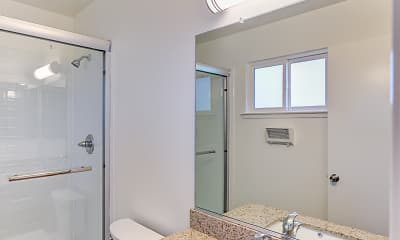Bathroom, Lakeview Apartments, 2
