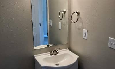Bathroom, Hillwood Apartments, 2