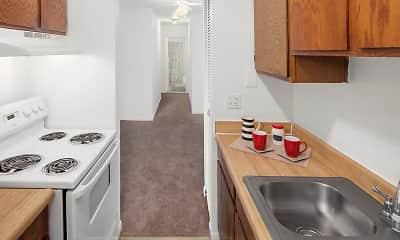 Kitchen, Warren Club Apartments, 1