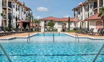 Pool, Two Addison Place Apartments, 1