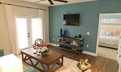 Living Room, Charleston Apartment Homes, 1