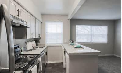 Kitchen, Landmark Apartments, 1