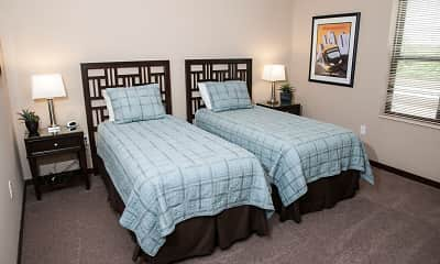 Bedroom, Oaks Station Place Apartments, 2