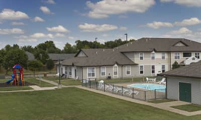Pool, Chesterfield Village Apartments, 1