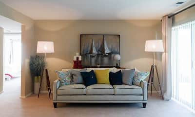Living Room, Sutton Club Apartments & Fitness Center, 0
