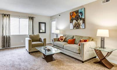 Living Room, Deercross Apartments, 2