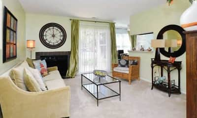Living Room, Spring House Apartments, 0
