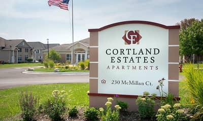 Community Signage, Cortland Estates, 2
