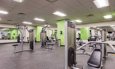 Fitness Weight Room, Residences at Halle, 2