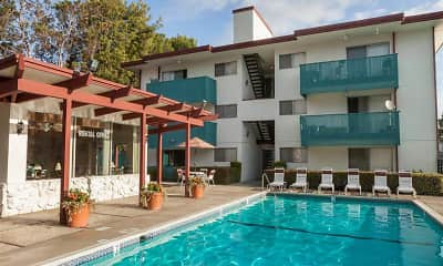 Pool, Del Coronado Apartments, 1