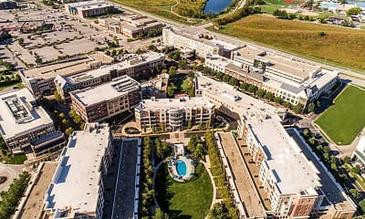 view of drone / aerial view, The Residences at Park Place, 2