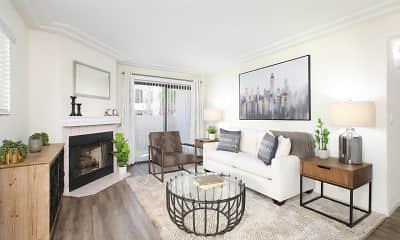 Living Room, Ladera Apartments at Green Valley, 2