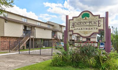 Community Signage, Acadian Place, 2