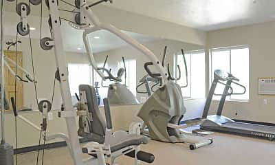 Fitness Weight Room, Boulders Apartments, 2
