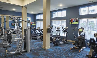 Fitness Weight Room, The Julian at South Pointe, 2