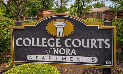 Community Signage, College Courts of Nora, 2