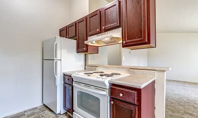 Kitchen, Wildwood Apartments, 1