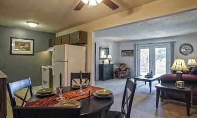 Dining Room, Maple Ridge Apartments, 1