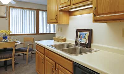 Kitchen, Eastview Apartments, 0