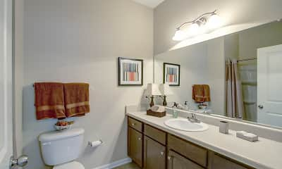 Bathroom, Seville Place Apartment Village, 2