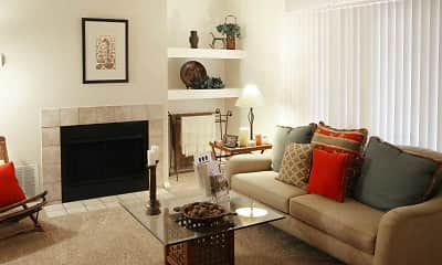 Living Room, Fox Chase Apartments, 1