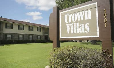 Community Signage, Crown Villas Apartments, 0