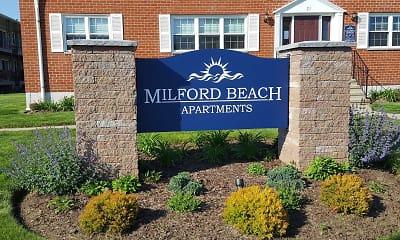 Community Signage, Milford Beach, 1