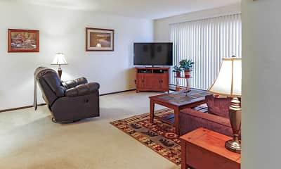 Living Room, Tantara Apartments, 1