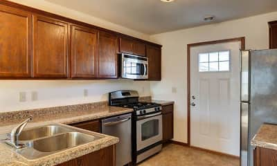 Kitchen, Tioga Townhomes, 1